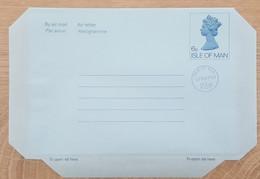 Ile De Man - Entier Postal - AEROGRAMME - REINE ELIZABETH - 6p Uprated 2p1/2 - Neuf - Man (Ile De)