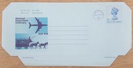 Ile De Man - Entier Postal - AEROGRAMME - REINE ELIZABETH / UPU - 6p1/2 Uprated 1/2p  - Neuf - Man (Ile De)