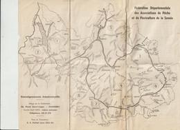 Carte De Federation Departementale Associations De Pèche Et Pisciculture De Savoie_Details Voir Scan Du  Verso - Unclassified