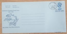 Ile De Man - Entier Postal - AEROGRAMME - REINE ELIZABETH / UPU - 7p - Oblitéré 1er Jour / FDC - Man (Ile De)