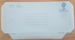 Ile De Man - Entier Postal - AEROGRAMME - REINE ELIZABETH - 7p Uprated 2p - Neuf - Man (Ile De)