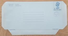 Ile De Man - Entier Postal - AEROGRAMME - REINE ELIZABETH - 7p Uprated 4p - Neuf - Man (Ile De)