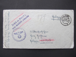 BRIEF Neubrandenburg Retour SS Oberscharführer 1944// /  D*50979 - Storia Postale