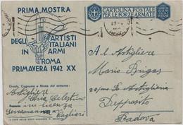 1942. Cartolina Postale Per Le Forze Armate, In Franchigia,  Da Serramanna A Padova - 1939-45