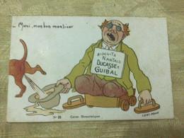 Publicité Biscuits Nantais Ducasse & Guibal, Mendiant Cul De Jatte Chien Urine - Advertising