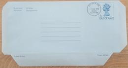 Ile De Man - Entier Postal - AEROGRAMME - REINE ELIZABETH - 7p - Oblitéré 1er Jour / FDC - Man (Ile De)