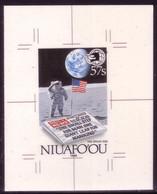 Tonga Niuafo'ou 1989 Cromalin Proof - First Man On Moon - Space - Apollo - 4 Exist - Read Description - Oceania