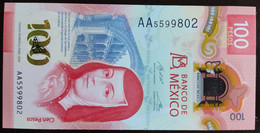 MEXICO 2020 $100 SOR JUANA POLYMER NOTE + SERIES AA 5599802 + Sells For $160 USD In The U.S.+ Mint Crisp Note - Mexico
