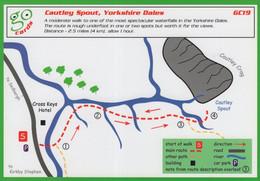 Cautley Spout Yorkshire Dales Rare Map Rambling Walk Card - Non Classificati