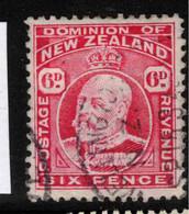 NZ 1909 6d Carmine P14x13.5 KEVII SG 403 U #AWE1 - Used Stamps