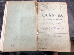 Viet Nam South-ID Book Medical Staff-Military-the Government's Medical Records-book Old-before 1975(so Quan Ba-year-1963 - Old Books
