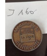Medaile De La Générosité La Ligue Contre Le Cancer En L Etat Sur Les Photos - Unclassified