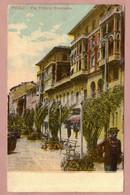 Cartolina Illustrata Genova Pegli Via Vittorio Emanuele - Viaggiata 1920 - Genova (Genoa)