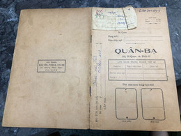 Viet Nam South-ID Book Medical Staff-Military-the Government's Medical Records-book Old-before 1975(so Quan Ba-year--Nam - Old Books