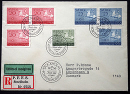Sweden 1956  Olympic Games   Minr.413-14    FDC    (lot  497) - FDC