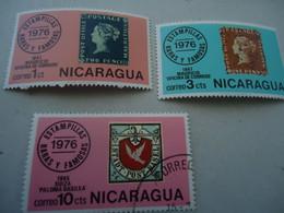 NICARAGUA USED AND MNH  STAMPS ON STAMPS - Nicaragua