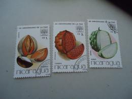 NICARAGUA USED   STAMPS FRUITS - Nicaragua