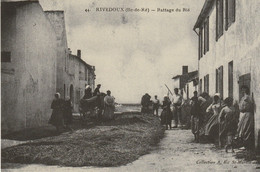 """17 RIVEDOUX. Battage Du Blé. Réédition """" C'était La France """" Par Cecodi - Ile De Ré"""