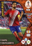 Trading Cards Panini Football Fifa World 2018 Russia Adrenalyn Fans Favorite 367 Bryan Ruiz - French Edition