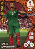Trading Cards Panini Football Fifa World 2018 Russia Adrenalyn Fans Favorite 383 Medhi Benatia - French Edition