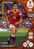 Trading Cards Panini Football Fifa World 2018 Russia Adrenalyn Fans Favorite 393 Yuri Zhirkov - French Edition