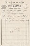 "55-Planta...""  A La Gerbe D'Or ""....Confiseur-Patissier-Glacier...Bar-le-Duc...'(Meuse)...1877 - Food"