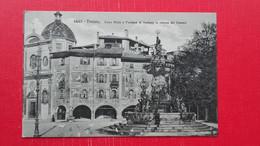Trento.Casa Rella E Fontana Di Nettuno In Piazza Del Duomo - Trento