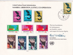 United Nations - Cardboard, Philatelic 1978 - Namibia : Liberation,Justice,Cooperation - Briefe U. Dokumente