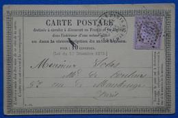 AA15 FRANCE  BELLE  CARTE 1875 ETOILE DE PARIS 39   + AFFRANCH. INTERESSANT - 1871-1875 Ceres