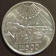 ITALIA REPUBBLICA LIRE 500 BB 1865 DANTE - 500 Lire