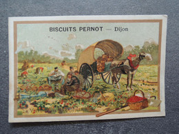 CHROMO  Lith. Vieillemard.  Biscuits PERNOT.    Moyens De Transport.  La Voiture Du Maraicher. - Sin Clasificación