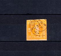 Bayern 8I Ziffer 1 Kreuzer Gelb Mit Zweikreisstempel NÜRNBERG 10.4.1865  - Bavaria