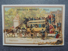 CHROMO  Lith. Vieillemard.  Biscuits PERNOT.    Moyens De Transport.  L'Omnibus. - Sin Clasificación