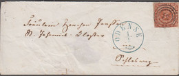 1861. DANMARK Beautiful Small Cover With 4 Skilling Cancelled 51 And ODENSE 1 1 And R... () - JF424617 - Lettres & Documents
