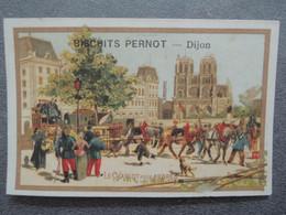 CHROMO  Lith. Vieillemard.  Biscuits PERNOT.    Moyens De Transport.  Le Chariot Pour Arbres. - Sin Clasificación