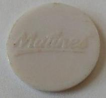Jeton De Caddie - Matines - 1 Euro - En Plastique - - Einkaufswagen-Chips (EKW)