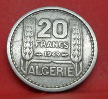 20 Francs 1949 - TB+ - Ancienne Pièce De Monnaie Algérie Collection - N20904 - Algeria