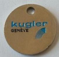Jeton De Caddie - KUGLER - GENEVE - SWISSTAP - En Métal - - Einkaufswagen-Chips (EKW)