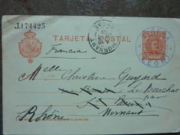 1909  TARJETA POSTAL  CINERA LEON - 1850-1931