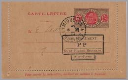 St. Pierre & Miquelon -  SPM 15c Letter Card - 1926 Provisional Postpaid Handstamps - Type P P - Covers & Documents