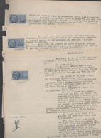 Lot De 5 Documents Avec Timbre Fiscal 2.50 NF     1960 (PPP31637) - Revenue Stamps