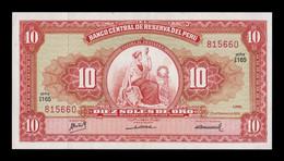 Perú 10 Soles De Oro 1968 Pick 84e SC-/SC AUNC/UNC - Peru