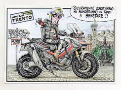 Trento - 2017 - Cartoncino Pubblicitario Benedizione Delle Moto - (FDC31924) - Trento