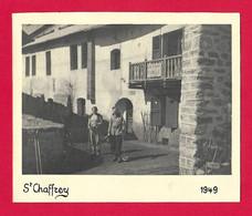 Photographie En Noir Et Blanc Datée De 1949 - Hautes Alpes - Saint-Chaffrey - Lieux