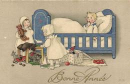 Illustrateur X B Enfants Jouets Nounours Bateau  .. Bébé Dans Son Lit  RV - Scenes & Landscapes