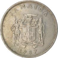 Monnaie, Jamaica, Elizabeth II, 25 Cents, 1987, Franklin Mint, TTB - Jamaica