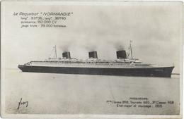 NORMANDIE - Lot 3 Cartes - Voir Scannes - Passagiersschepen
