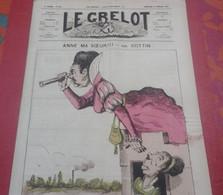 Journal Satirique Le Grelot N°202 Février 1875 Anne Ma Sœur !!! Caricature Barbe Bleue Charles Perrault - 1850 - 1899