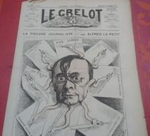 Journal Satirique Le Grelot N°190 Novembre 1874 La Pieuvre Journaliste Petit Journal Journal Illustré... - 1850 - 1899
