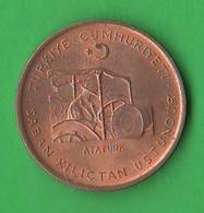 Turchia 10 Kurus 1972 Turkey Ataturk  Bronze Coin FAO - Turkey